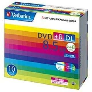 DTR85HP10V1 データ用DVD+R ホワイト [10枚 /8.5GB /インクジェットプリンター対応]
