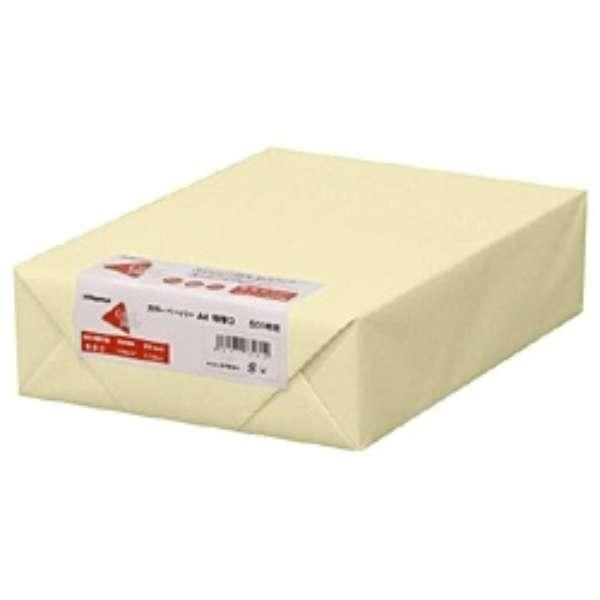 カラーペーパー 特厚口 レモン (A4サイズ・500枚) ナ-3452