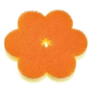 おはなスポンジ(オレンジ) K364O〔たわし・スポンジ〕