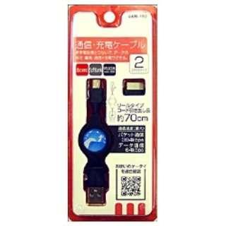 USB通信・充電ケーブル(DoCoMo・Softbank・Willcom・Mini-USB) UAM-103