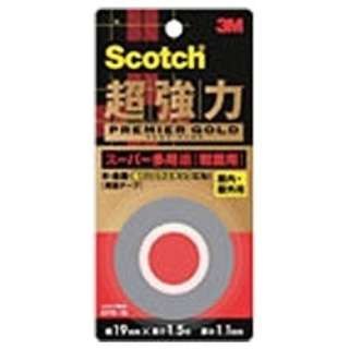 スコッチ 超強力両面テープ プレミアゴールド(スーパー多用途) 粗面用 KPR-25