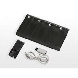 無接点4チャージボード(Wiiリモコン用)ブラック【Wii】