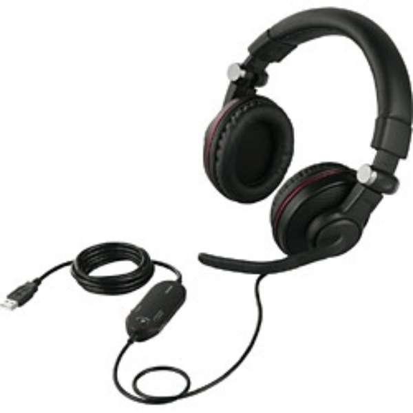 BSHSUH05BK ゲーミングヘッドセット ブラック [USB  / 両耳  / ヘッドバンドタイプ]