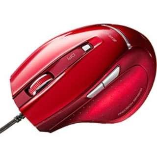 MA-118HR マウス レッド  [BlueLED /5ボタン /USB /有線]