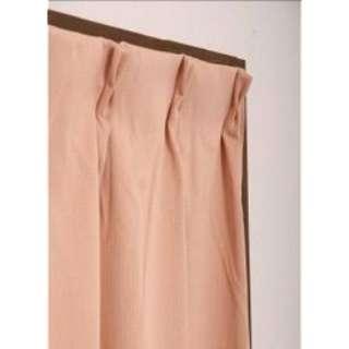 2枚組 ドレープカーテン モイス(100×200cm/ローズ)