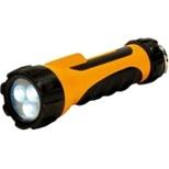 DOP-LR303 懐中電灯 ラバーライト オレンジ [LED /単1乾電池×2 /防水]