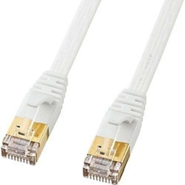 KB-FLU7-03W LANケーブル ホワイト [3m /カテゴリー7 /フラット]
