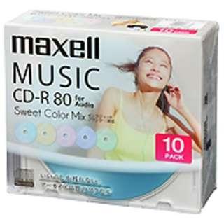 CDRA80PSM.10S 音楽用CD-R [10枚 /インクジェットプリンター対応]