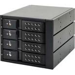 SATA3.5HDD リムーバブルラック iStarUSA BPN-DE Series 4Bayモデル(ブラック) BPN-DE340SS-BK
