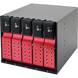 SATA3.5HDD リムーバブルラック iStarUSA BPN-DE Series 5Bayモデル(レッド) BPN-DE350SS-RD