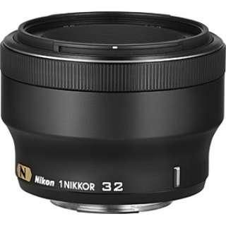 カメラレンズ 1 NIKKOR 32mm f/1.2 NIKKOR(ニッコール) ブラック [ニコン 1 /単焦点レンズ]