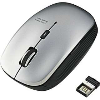 M-BL21DBSV マウス シルバー  [BlueLED /5ボタン /USB /無線(ワイヤレス)]