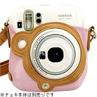 """カメラバッグ(速写ケース) """"チェキ"""" instax mini 25用(ピンク)[生産完了品 在庫限り]"""