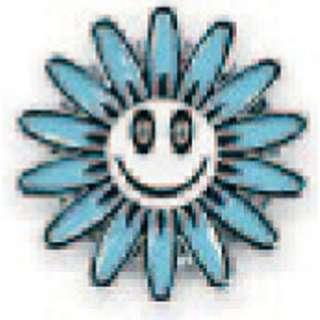 iPhone/iPad/iPad mini/iPod touch対応 アルミニウム・ホームボタンシール スマイルマークモチーフ「Daisy」(ブルー) [Sinra Design Works] SH-IPDA-BL