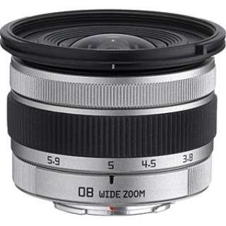 カメラレンズ 08 WIDE ZOOM 3.8-5.9mm F3.7-4 シルバー [ペンタックスQ /ズームレンズ]