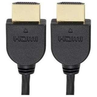 VIS-C15SL-K HDMIケーブル [1.5m /HDMI⇔HDMI /スリムタイプ /イーサネット対応]