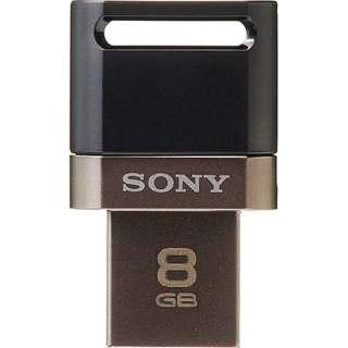 USM8SA1 B USBメモリ ブラック [8GB /USB2.0 /USB TypeA+microUSB /キャップ式]