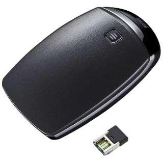 MA-TOUCH8BK マウス ブラック  [IR LED /1ボタン /USB /無線(ワイヤレス)]
