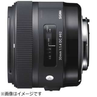 カメラレンズ 30mm F1.4 DC HSM Art ブラック [ペンタックスK /単焦点レンズ]