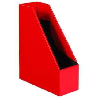 [収納用品] マガジンボックス  レッド(サイズ:A4) SLD2-52-04
