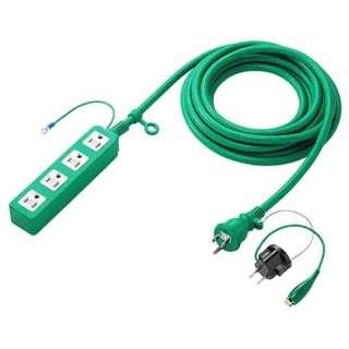 高強度タップ グリーン TAP-HP4-5G [5.0m /4個口 /スイッチ無]