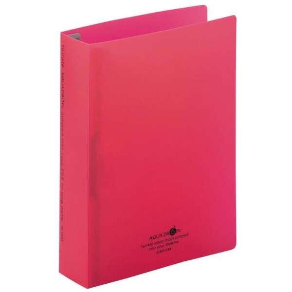 リングノート保存用ファイル AQUA DROPs[A5サイズ /タテ型(S型)24穴] N-1645-3 赤