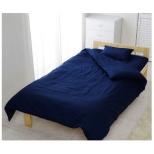 【敷ふとんカバー】アイリスオーヤマ CMS-S シングルサイズ(綿100%/105×215cm/ネイビー)