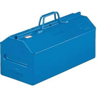 山型中皿付工具箱 533X201X261 ブルー L530B