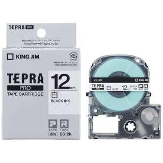 白ラベルテープ TEPRA(テプラ) PROシリーズ 白 SS12K [黒文字 /12mm幅]