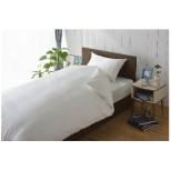 【敷ふとんカバー】80サテン シングルサイズ(綿100%/105×215cm/ホワイト)