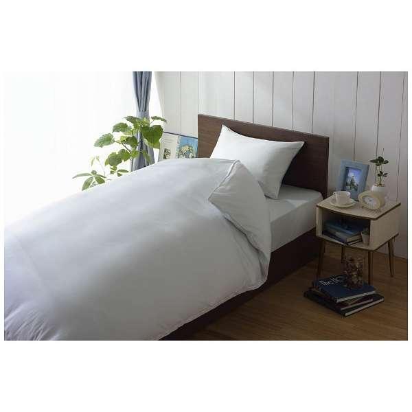 【敷ふとんカバー】80サテン ダブルサイズ(綿100%/145×215cm/ブルー)【日本製】