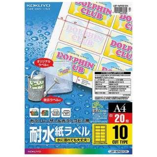 マルチラベル カラーレーザー&カラーコピー用 LBP-WP6910 [A4 /20シート /10面]