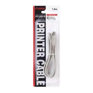 1.8m[USB-A ⇔ USB-B]ケーブル IFC-USB/185 108A008 グレー