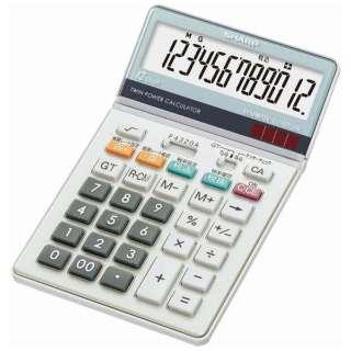 電卓 ナイスサイズタイプ EL-N732K-X [12桁]