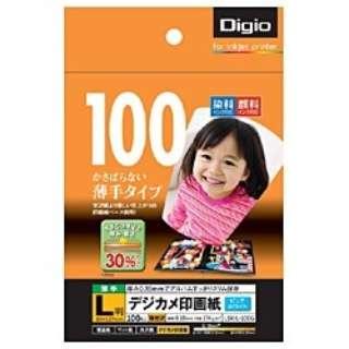 """""""Digio"""" デジカメ印画紙 強光沢 (L判・100枚) LSK-L-100G"""