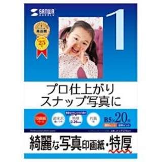 """""""インクジェット写真印画紙"""" 特厚 (B5サイズ・20枚) JP-EP2NB5"""