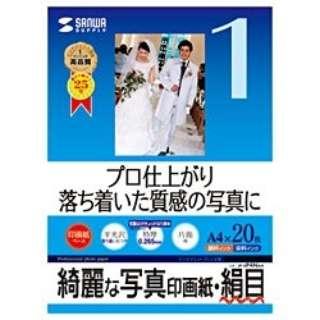 """""""インクジェット写真印画紙"""" 特厚・絹目 (A4サイズ・20枚) JP-EP4NA4"""