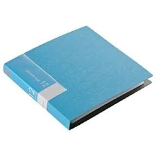 CD/DVDファイル 12枚収納 ブルー BSCD01F12BL