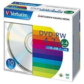 DHW47Y10V1 データ用DVD-RW シルバー [10枚 /4.7GB]