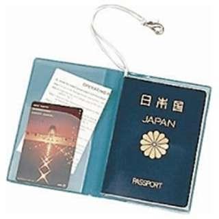 SWT パスポートカバー クリア 青