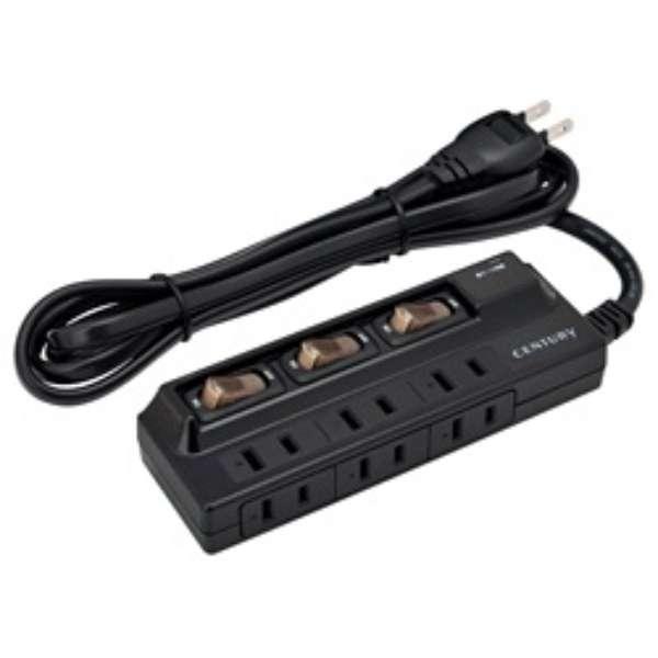 電源タップ (2ピン式・6個口・ブラック) COT2P6S3-BK
