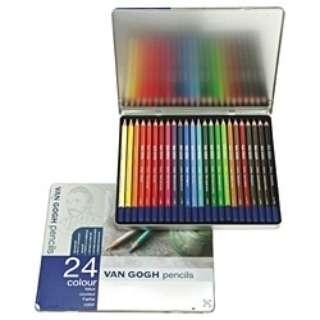 [色鉛筆] ヴァンゴッホ色鉛筆24色セット T9773-0024