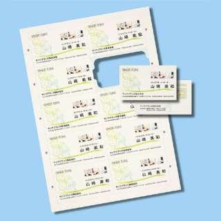 〔インクジェット〕 まわりがきれいな名刺カード 200枚 (A4サイズ 10面×20シート) アイボリー JP-MCC02BG