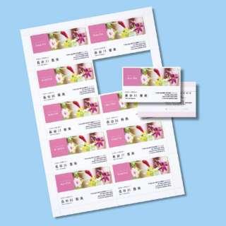 〔インクジェット〕 インクジェット名刺カード 1000枚 (A4サイズ 10面×100シート・白) JP-MC13K-1