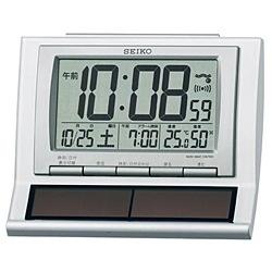 セイコークロック セイコー ソーラー電波目覚まし時計 SQ751W 1台