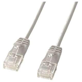 KB-SL6-02 LANケーブル ライトグレー [2m /カテゴリー6 /スタンダード]