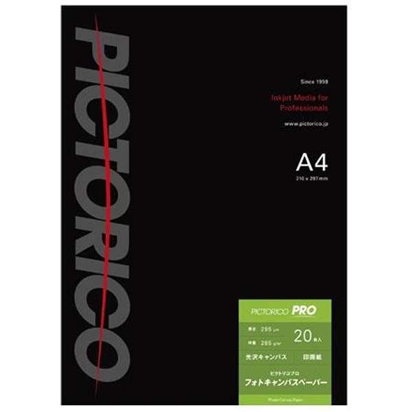 ピクトリコプロ・フォトキャンバスペーパー (A4・20枚) PPV200-A4/20