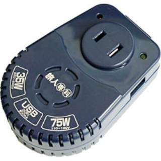 海外旅行用変圧器 USB充電ポート付 (全世界対応) MBT-WDS/NV