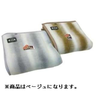 オーロラプリントニューマイヤー毛布(シングルサイズ/140×200cm/ベージュ)【日本製】