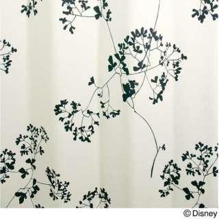 ドレープカーテン トウィッグリーフ(100×178cm/アイボリー)【日本製】